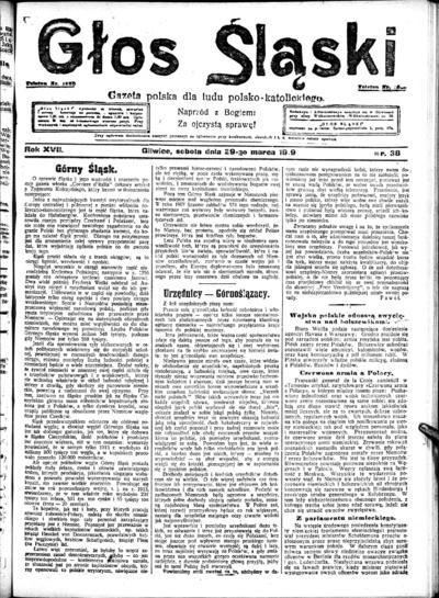 Głos Śląski - 1919-03-29