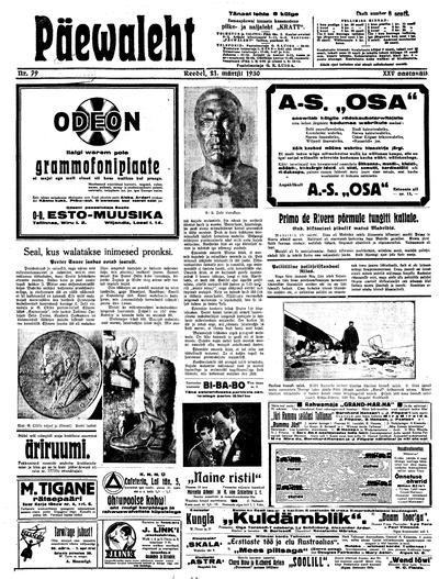 Päevaleht - 1930-03-21