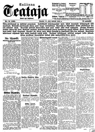 Tallinna Teataja - 1916-03-11