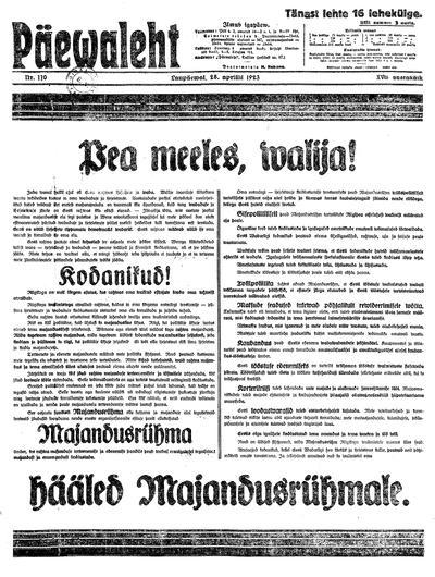 Päevaleht - 1923-04-28
