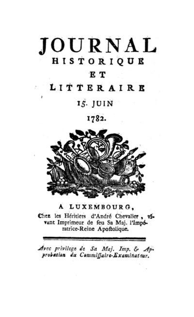 Journal historique et littéraire - 1782-06-15