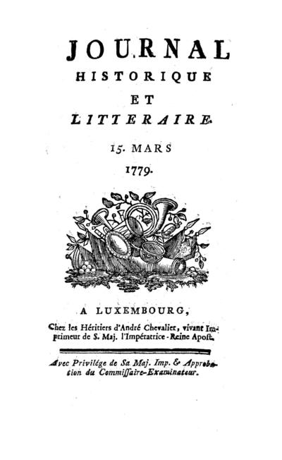 Journal historique et littéraire - 1779-03-15