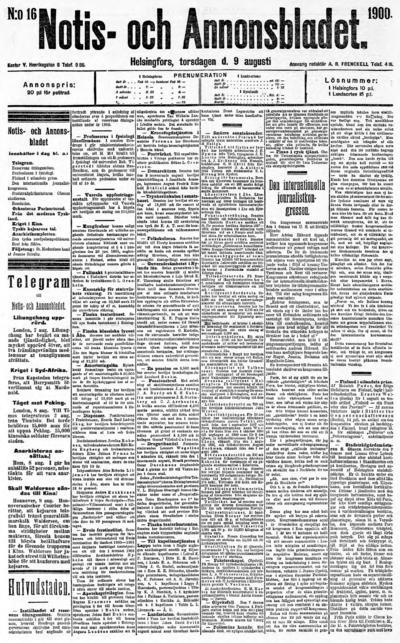 Hufvudstadsbladet, nr: 16 - 1900-08-09