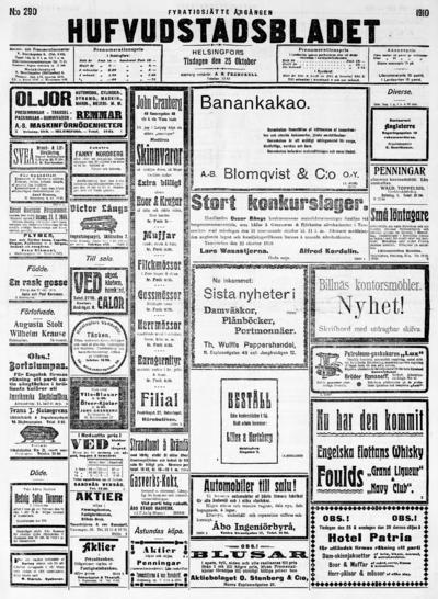 Hufvudstadsbladet, nr: 290 - 1910-10-25