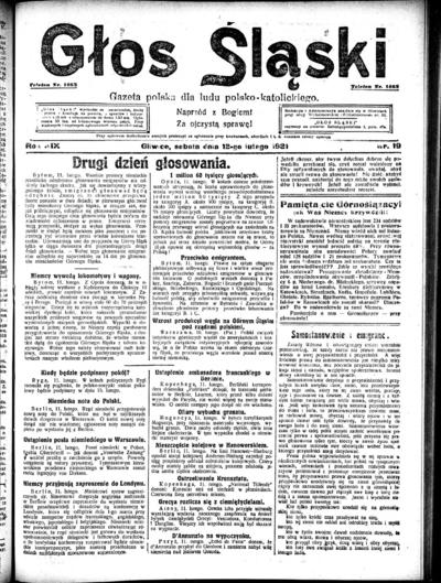 Głos Śląski - 1921-02-12