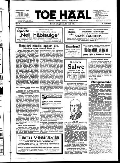 Tõe Hääl - 1931-05-31