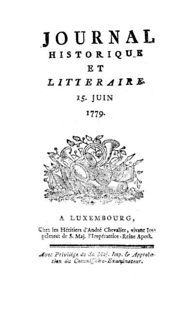 Journal historique et littéraire - 1779-06-15