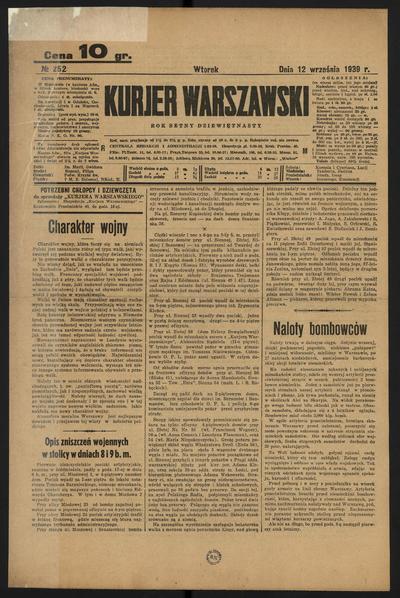 Kurjer Warszawski - 1939-09-12
