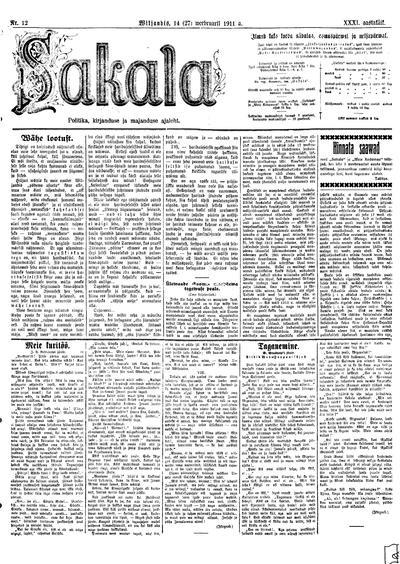 Sakala - 1911-02-14