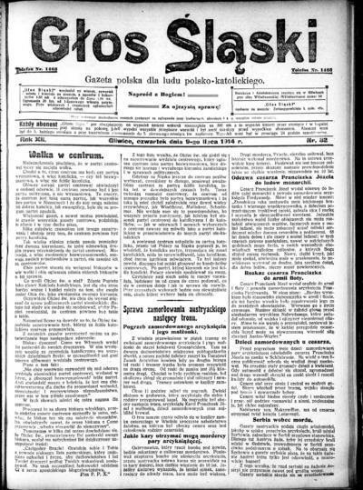 Głos Śląski - 1914-07-09