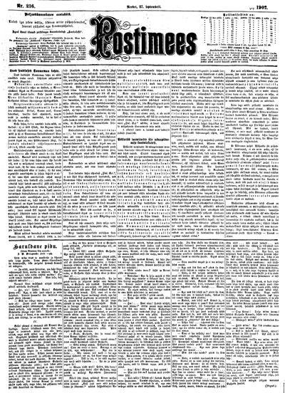 Postimees - 1902-09-27