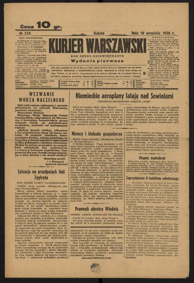 Kurjer Warszawski - 1939-09-16