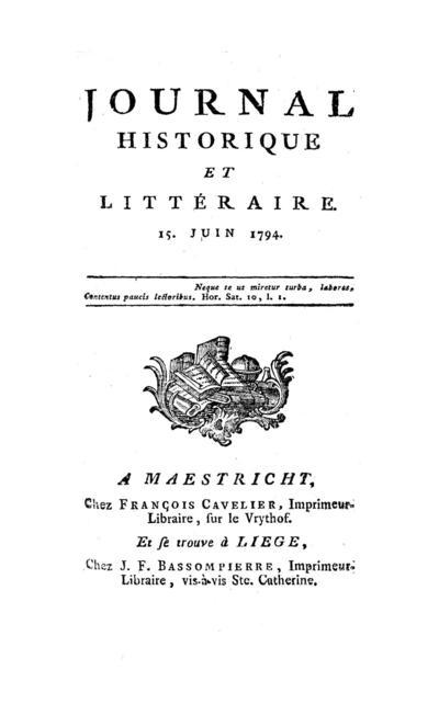 Journal historique et littéraire - 1794-06-15