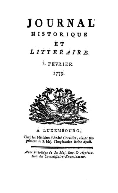 Journal historique et littéraire - 1779-02-01