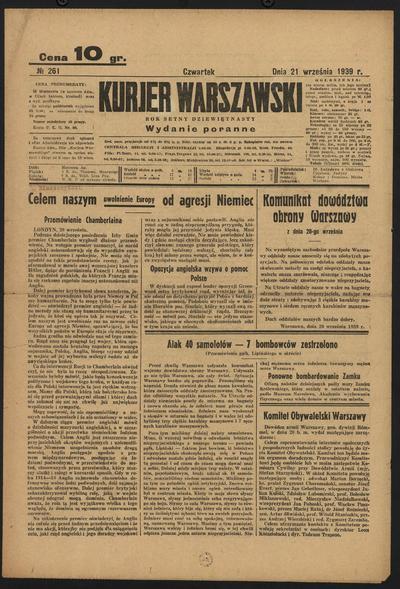 Kurjer Warszawski - 1939-09-21