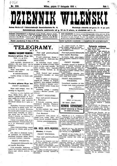 Dziennik Wileński - 1916-11-17
