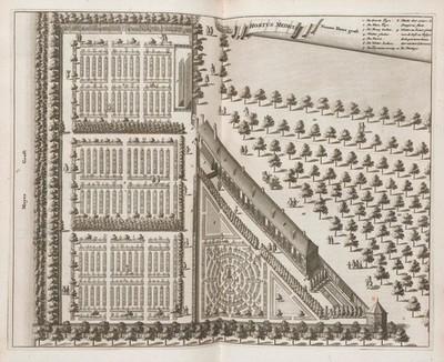 Plan of a medical garden of Artzeny-hoff