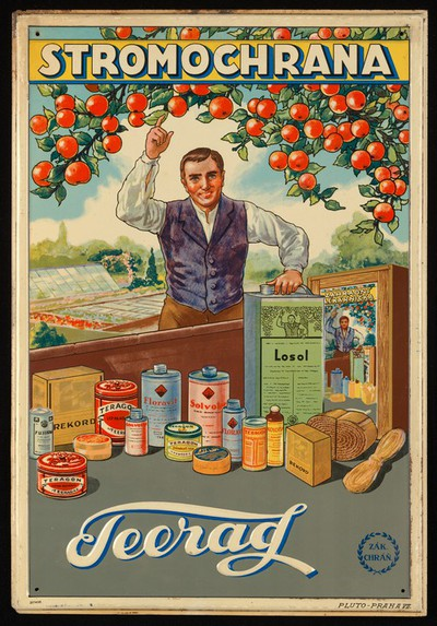 Advertisement promoting insecticides produced by Teerag