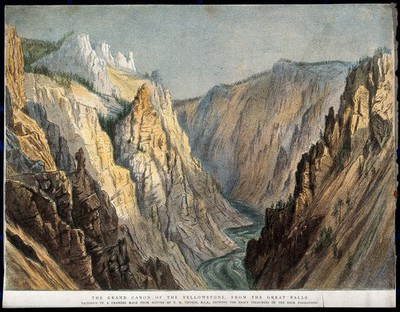 Geography: the Grand Canyon. Coloured lithograph after T.H. Thomas.