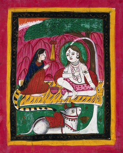 OMNIA - Page 153: Shiva and Parvati seated with Nandi bull