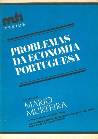 Problemas da economia portuguesa: intervenção de Mário Murteira