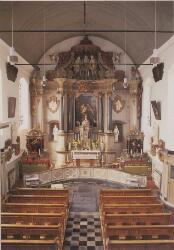 Capucijnenklooster Emmaus, interieur kerk uit 1733.