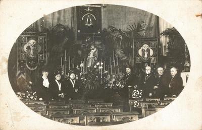 Bijeenkomst in de Onze Lieve Vrouw ten Hemelopnemingkerk (Elleboogkerk) van de Aartsbroederschap van de Heilige Familie, een lekenorde binnen de roomskatholieke           kerk.