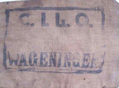 Jutezak van C.I.L.O Wageningen ( Centraal Instituut voor Landbouwkundig Onderzoek Wageningen) 1938-1960
