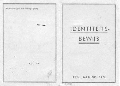 Oorlog Identiteitsbewijs geen