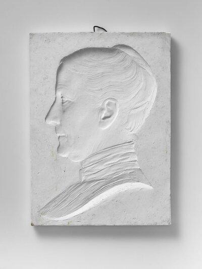 Portret van vrouw, naar links gericht en profile, voorstellende Clara de Kanter verpleegster en huisgenote van Pier Pander.