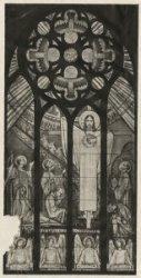 Bezuidenhoutseweg 157, R.K. kerk, ontwerp van een der gebrande glasramen door Anton Molkenboer
