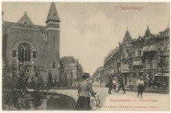 Regentesseplein en Weimarstraat, met rechts een paardenomnibus