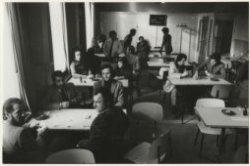 Brouwersgracht 28, kantine van 'De Poort', pension voor gastarbeiders