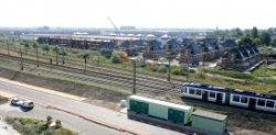 Leidschenveen, gezicht over de spoorlijn op Dijken: Bellemeerstraat, Bergermeerstraat enzovoort