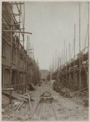 Middenstraat in aanbouw