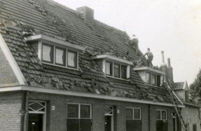 Oorlogsschade ten gevolge van de gevechten in de meidagen van 1940 in Wageningen.<br>