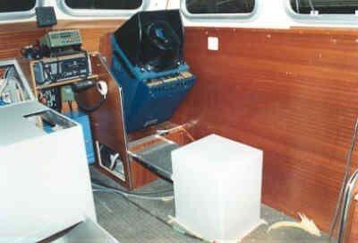 Bouw patrouillevaartuig Polis I voor de kustwacht Ned Antillen bij de werf Van Leest Scheepsbouw bv. 1988. Bruginstallaties