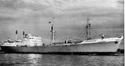 Vrachtschip Alchiba van Van Nievelt, Goudriaan & Co. Gebouwd 1959, verkocht 1969.