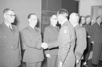 Z.K.H. Prins Bernhard, Inspecteur-Generaal van de Koninklijke Luchtmacht bracht op 10 maart 1959 een bezoek aan de vliegbasis Eindhoven waar hij in een door hem zelf           gevlogen T-33 arriveerde. De prins bezocht diverse onderdelen en diensten van de basis. Bezocht werden 314 en 315 squadron en na aldaar een demonstratie van ATO-starts en een scramble van           tweemaal 6 F-84F's te hebben bijgewoond, vervolgens de verschillende andere afdelingen.