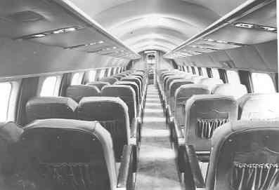 Interieur van het KLM passagiersvliegtuig Consolidated Convair C-240, PH-CEG,
