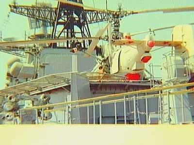 Tijdens de Adelborsten-bootjes- en -kruisreis in 1996 op het S-fregat Hr.Ms. Pieter Florisz (1983-2001) maakte dit schip deel uit van het fregattensquadron (FREGRON) en nam           deel aan de oefening US Baltops in het kader van de Partnerschap voor de Vrede (PvV) met eenheden uit o.a. Rusland. Er werd ook gelegenheid geboden elkaars schepen te bezoeken, zoals hier           een bezoek aan de Russische Sovremenny jager RFS Nastoychivy (1993) m.b.v. de Russische boorhelikopter.