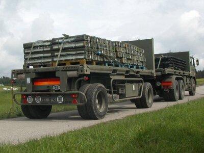 Transport van goederen tijdens oefening Collective Effort.
