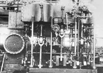 Triple expansie stoommachine voor het Gouvernementsmarineschip Kwartel (1901-1930)