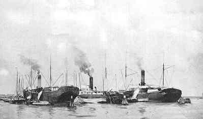 Briefkaart. Afbeelding van een schilderij van Hobbe Smith, voorstellende de haven van Amsterdam