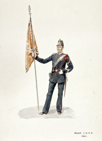 Marinier in mariniersuniform van rond 1894.