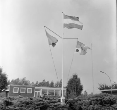 In zijn funktie van Inspecteur-Generaal van de Koninklijke Luchtmacht bezocht Z.K.H. Prins Bernhard de 12e Groep Geleide Wapens (12GGW) om zich op de hoogte te stellen van           de stand van zaken na de recente reorganisatie van de NIKE-eenheden. In de briefing-room op het Willem Versteegh Kamp te Hesepe gaf kolonel-vlieger-waarnemer R.A. Hengsdijk, commandant 12           GGW de prins een uitgebreid exposé over de huidige situatie en de toekomstige ontwikkelingen.Op de foto: de vlaggenmast van het Willem Versteegh Kamp.