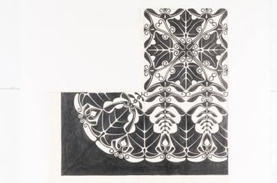 Ontwerptekening voor damasten: tafellaken Eschdoorn