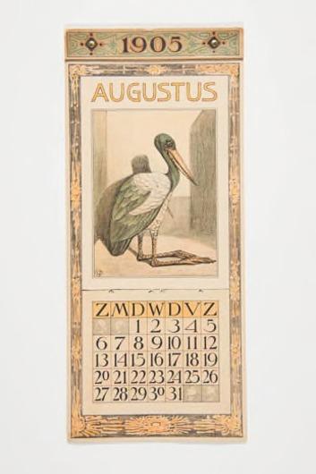 Kalenderblad augustus 1905