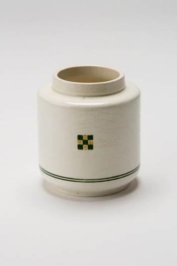 Pot met geometrisch decor, zogenaamd blokjesmodern/duizendjesmotief