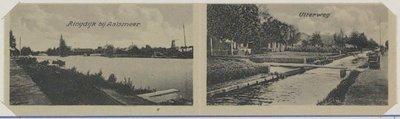 Links de Ringdijk bij Aalsmeer, rechts de Uiterweg.
